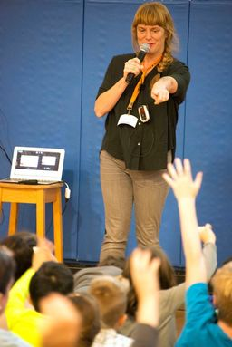 Artist and Author Carson Ellis spoke to First and Second Graders