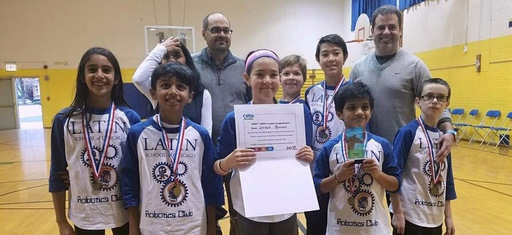 Middle School Robotics Takes First Place