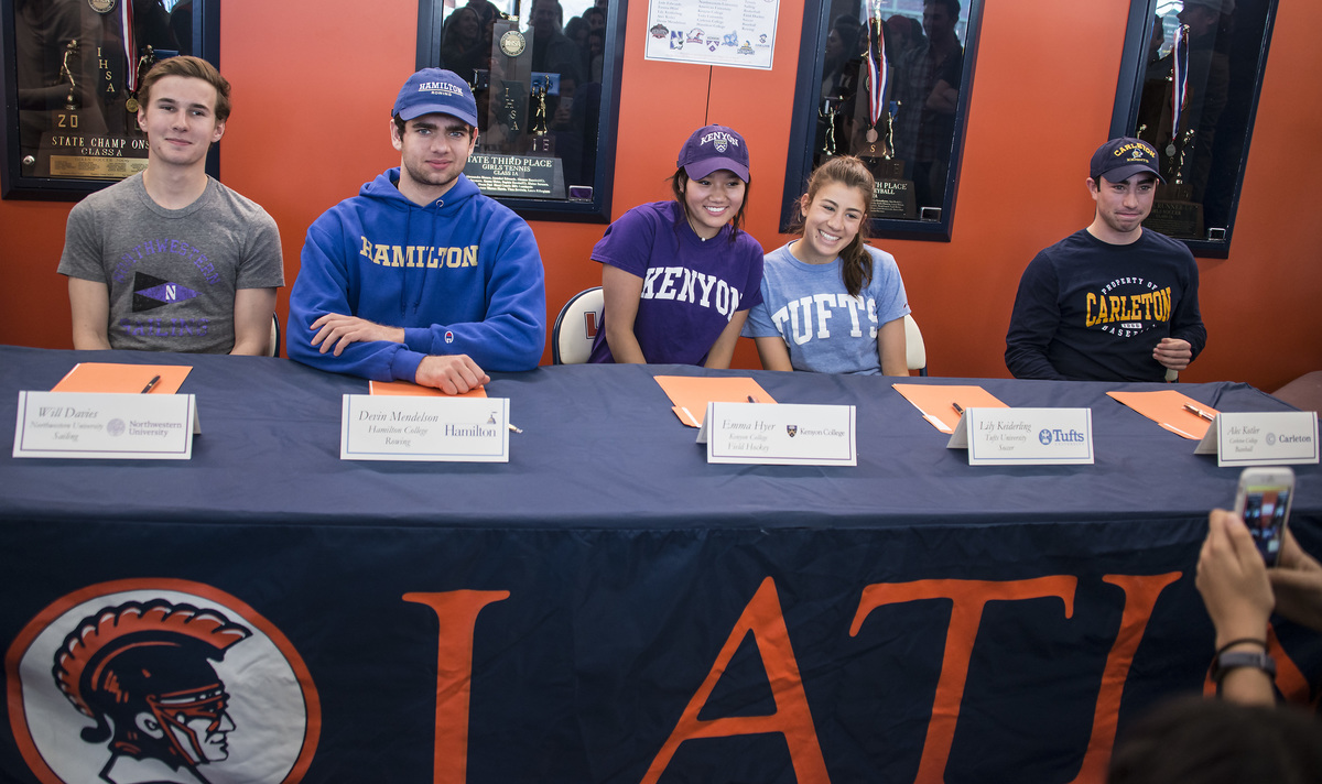 Five Student-Athletes Sign Letters of Commitment