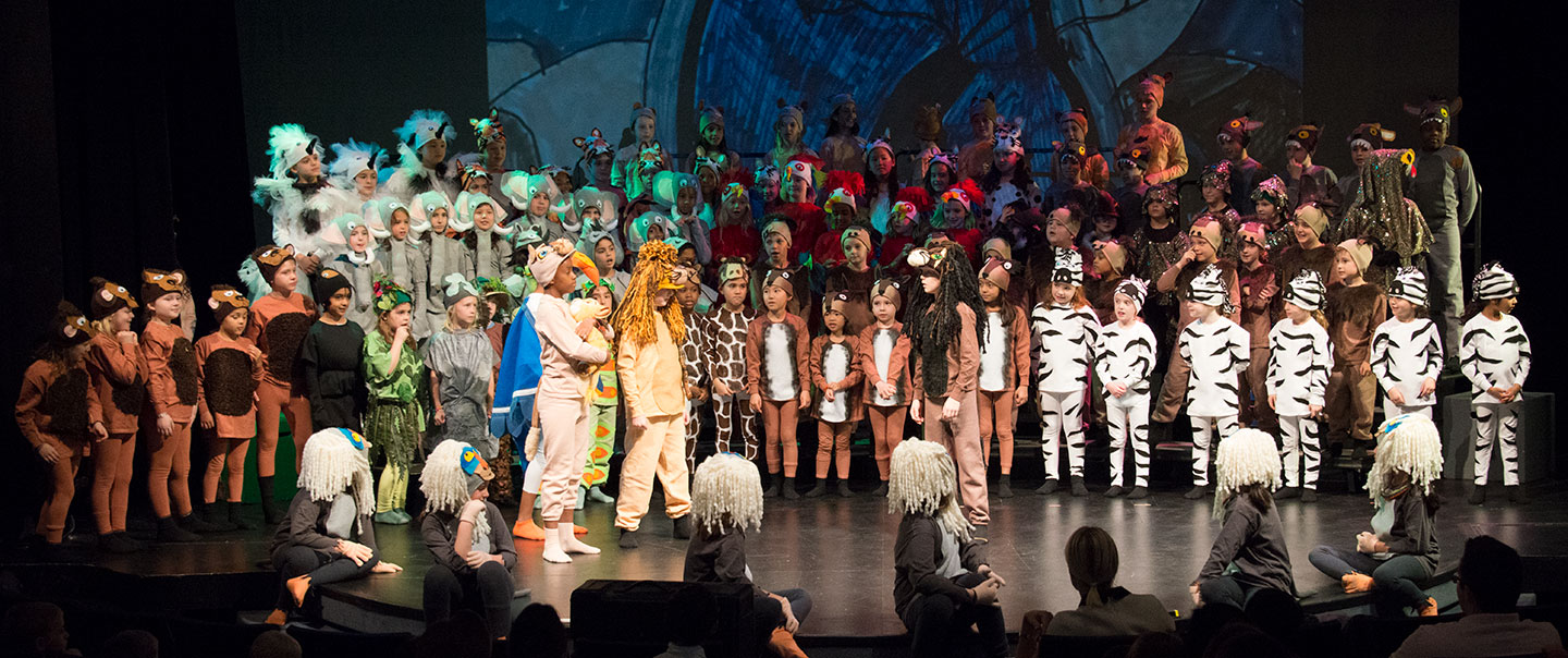 photo from the lower school production of the Lion King